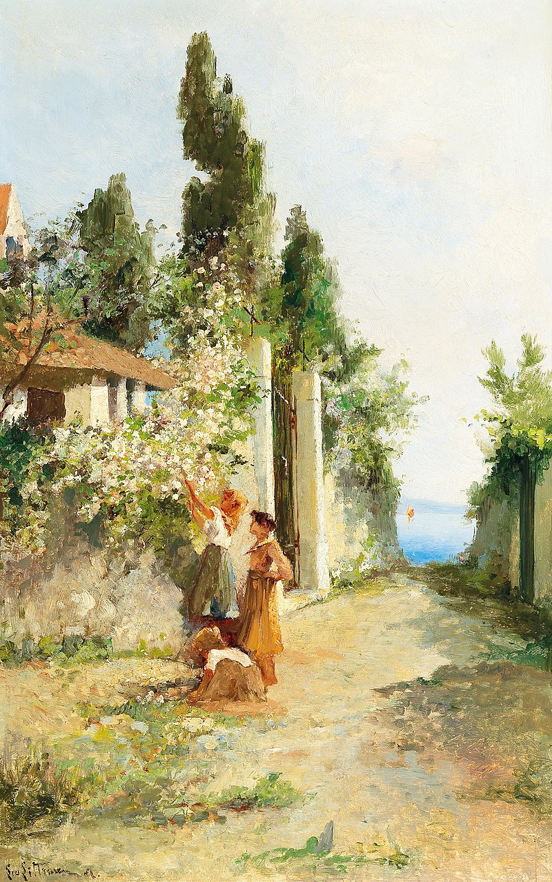 Леа фон Литтроу - Собираются три девушки roses.jpg