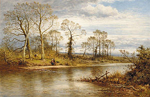 Benjamin Williams Leader - An English river in Autumn (1877)