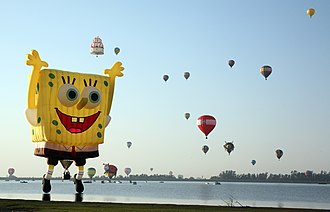 SpongeBob SquarePants - SpongeBob balloon at the Hot air balloon festival in León, Guanajuato, Mexico in November 2010