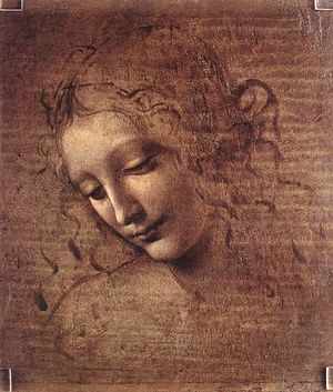 Galleria nazionale di Parma - Image: Leonardo da Vinci Female head (La Scapigliata) WGA12716