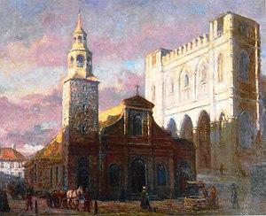 François Bailly - Image: Les deux eglises Notre Dame Georges Delfosse 1830