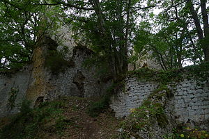 Lespugue - Ruins of the medieval castle