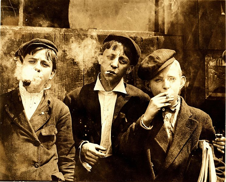 File:Lewis Hine, Newsies smoking at Skeeter's Branch, St. Louis, 1910.jpg job interview