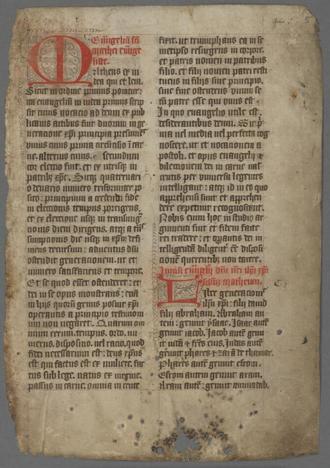 Book of Llandaff - Liber Lanavensis f.5r