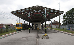 Lichfield City railway station - The station platform