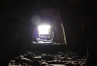 Carrowkeel Megalithic Cemetery - Image: Light entering the chamber of one of the monuments at Carrowkeel