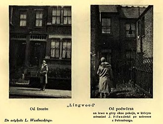 "Józef Piłsudski - ""Lingwood"", Leytonstone, where Piłsudski stayed in 1900"