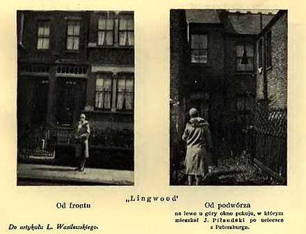 """Lingwood"", Leytonstone, where Pilsudski stayed in 1900 Lingwood 1898.jpg"