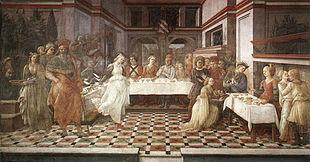 Banchetto di Erode, Duomo, Prato