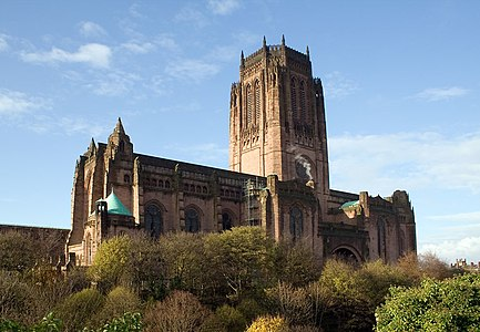 Liverpool Cathedral Whose Construction Ran From 1903 To 1978