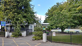 Loburn - Entrance to Loburn School, 2018.