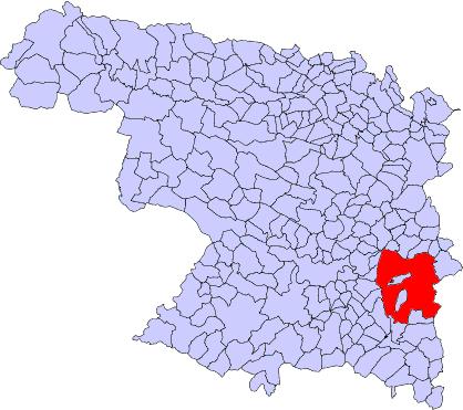 Localización Municipio Toro Zamora