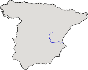 Júcar - Location of the Júcar River