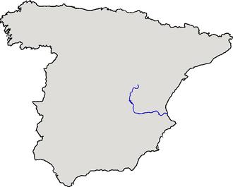 Mutiny at Sucro - Image: Localización del río Júcar