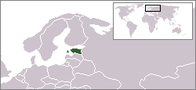 A map showing the location of Estonia
