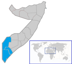 Location of جوبالینڈ