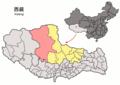 Location of Nyima within Xizang (China).png