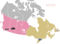 Locations of the four Canadian Rugby Championship teams.png