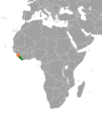 United Nations Security Council Resolution 1436 - Location of Sierra Leone and Liberia in Africa