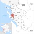 Locator map of Kanton Marennes 2019.png