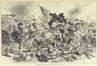 Battle of Killiecrankie - The Camerons overwhelm Mackay's line