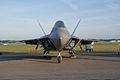 Lockheed-Martin F-22A-30-LM Raptor 05-099 HeadOn Dawn SNF 04April2014 (14399735529).jpg