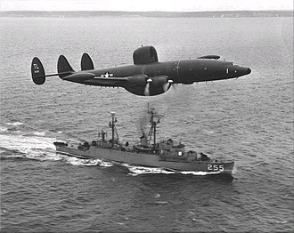 Radar picket - Image: Lockheed WV 2 of VW 15 flies over USS Sellstrom (DER 255) off Newfoundland, in March 1957
