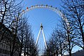 London eye - looking up in winter.JPG