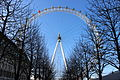 London eye - looking up in winter.JPG