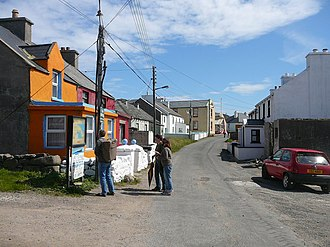Tory Island - Looking east along the village street, West Town