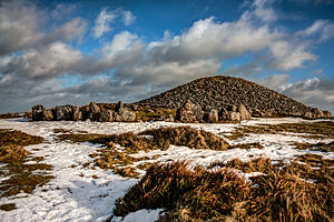 Loughcrew - Image: Loughcrew Cairn in snow
