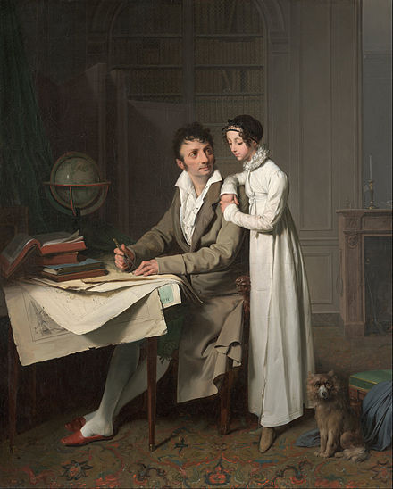 The Geography Lesson (Portrait of Monsieur Gaudry and His Daughter), 1812 Louis-Leopold Boilly - The Geography Lesson (Portrait of Monsieur Gaudry and His Daughter) - Google Art Project.jpg