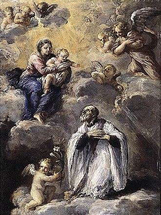 Ludovico Stern -  Vision of St Philip Neri.