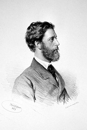 Ludwig Passini - Ludwig Passini, Lithography by Josef Kriehuber