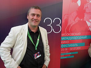 Ludwig Wüst - Ludwig Wüst presenting TAPE END at the Moscow International Film Festival.