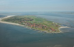 Aerial view of Baltrum from the west