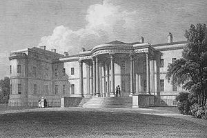 Luton Hoo - Luton Hoo as designed by Robert Adam. Two major sets of alterations were made after this image was published in 1829.
