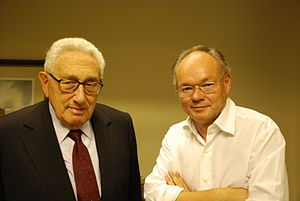 Lutz Hachmeister - Henry Kissinger (left) and Lutz Hachmeister