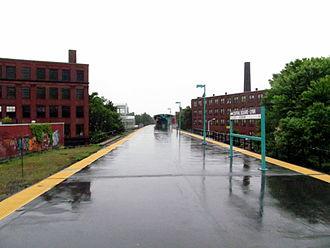 Lynn (MBTA station) - Lynn station on a rainy day in 2012
