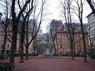 square in Lyon, France
