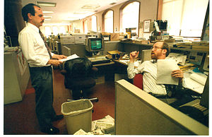 "San Francisco Chronicle - ""Chronicle Insider"" columnists Phil Matier and Andrew Ross in the newsroom"
