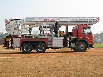 Mumbai Fire Brigade - Mumbai Fire Brigade's Bronto sky lift for sky scrapers