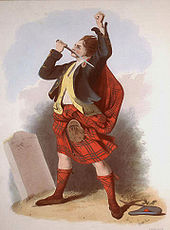 A stereotypical Scottish clansman, wearing a kilt