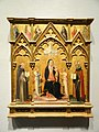 Madonna and Child Between Saints Jerome and Augustine, Giovanni di Paolo and workshop, Siena, 1445-1450- Nelson-Atkins Museum of Art - DSC08343.JPG
