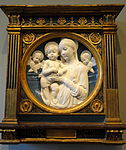 Madonna and Child with Cherubs by Andrea della Robbia - National Gallery of Art, Washington - DSC08612.JPG