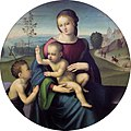 Madonna and Child with Saint John, by Master of the Lamentation of Scandicci.jpg