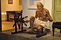 Mahatma Gandhi Fibreglass Statue With Charka - Gandhi Memorial Museum - Barrackpore - Kolkata 2017-03-31 1231.JPG