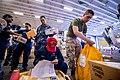 Mail is sorted in the hangar bay aboard USS Bonhomme Richard. (9194209898).jpg