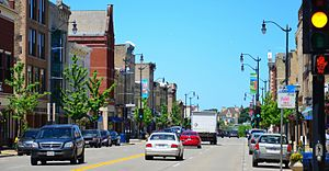 Racine, Wisconsin - Main Street, looking north
