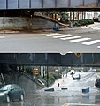 Main and University, Charlottesville, during flash flood (comparison).jpg